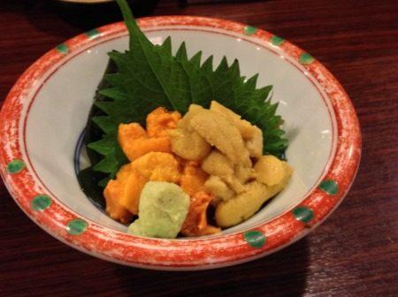 札幌「魚菜」ウニ
