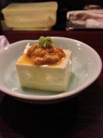 札幌「魚菜」ウニと豆腐