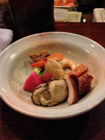 札幌「魚菜」酒菜5品