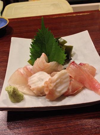 札幌「魚菜」刺身盛合わせ