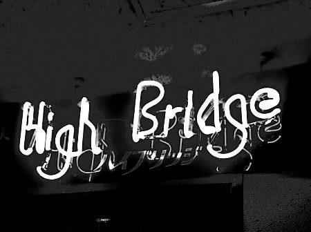 バーハイブリッジのネオンサイン